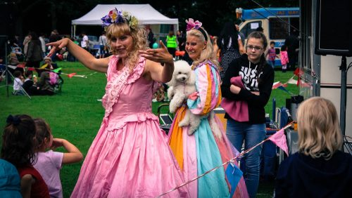 The maypole princesses perform dances on demand
