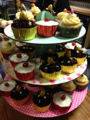 Cupcakes at the Mid Winter Warmer event, February 2017 (held at the Brockley Social Club).