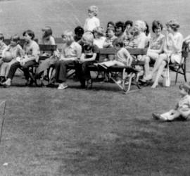 Children Watching Punch & Judy show, 1972.