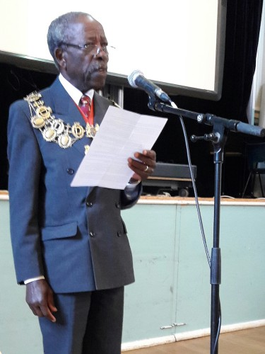 Lewisham's Chair of Council Councillor Obajimi Adefiranye opening the 'Innovation and Conservation' conference, June 2017