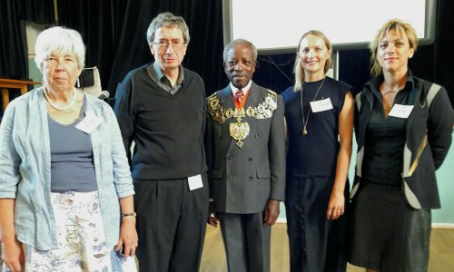 Event organisers (L-R): Clare Cowen, Chris Johnson, Harriet Saddington and Eryka Isaac, with Chair of Council Obajimi Adefiranye